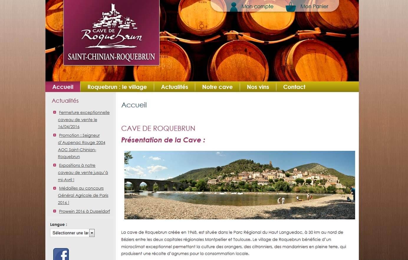 Création site vente de vins en ligne